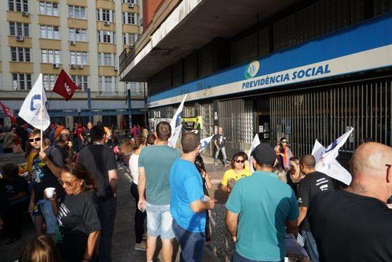 Centrais sindicais e servidores alertam sobre risco de colapso na Previdência | Foto: Igor Sperotto