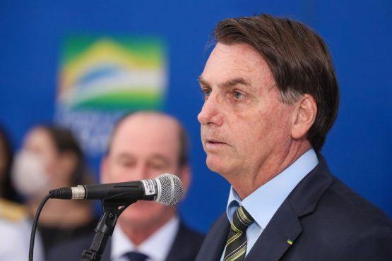 Presidente Jair Bolsonaro durante declaração à imprensa. | Foto: Isac Nóbrega/PR
