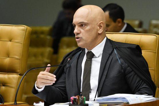 Ministro Alexandre de Moraes durante sessão extraordinária do STF | Foto: Carlos Moura/SCO/STF