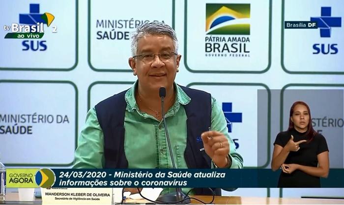 O secretário de vigilância em Saúde, Wanderson de Oliveira (foto) e o secretário executivo João Gabardo dos Reis, atualizaram os números da pandemia no país em teleconferência