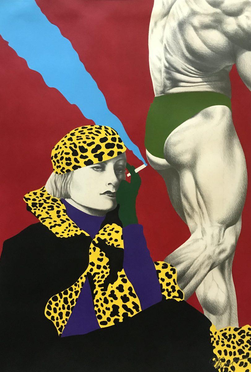 """""""Mulher-onça"""", grafite e tinta acrílica sobre papel (1984)"""