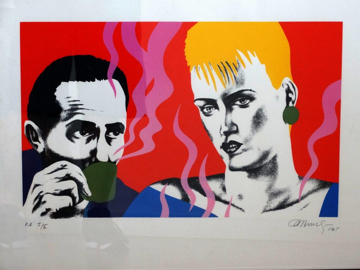 """""""Felipe Caldas"""", da série Pequenos Suspenses, grafite e acrílica sobre papel (1982)"""