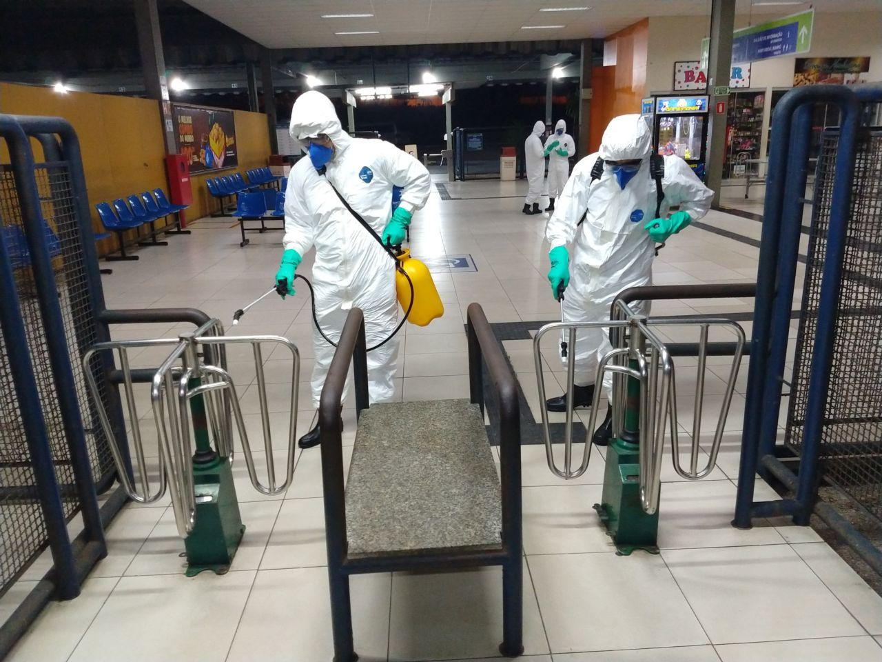 Exército Brasileiro em operação de higienização em Rodoviária de Natal(RN)