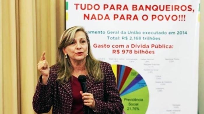 """""""O Senado não pode permitir que essa trapaça passe a fazer parte da Constituição Federal"""", alerta Maria Lúcia Fattorelli"""