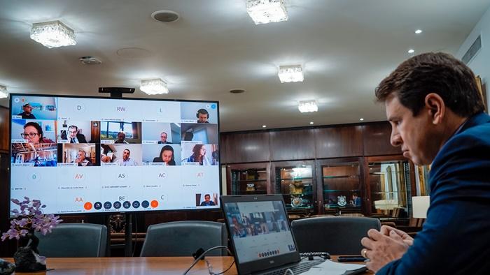 Teleconferência foi coordenada pelo presidente da ALRS, Ernani Polo (PP)