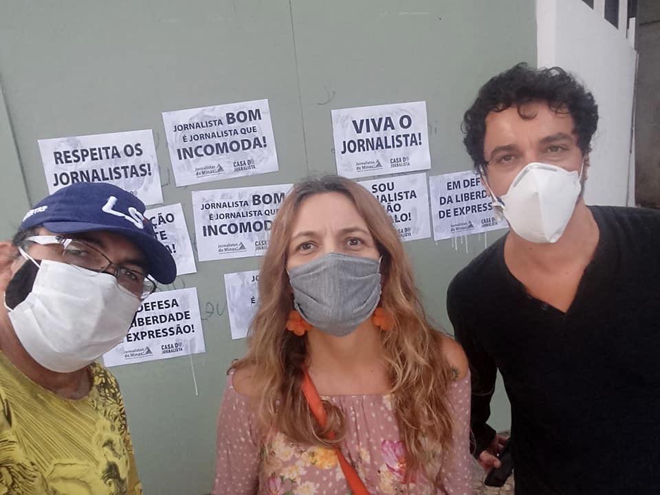 Sindicato dos Jornalistas Profissionais de Minas Gerais (SJPMG) reagiu ao ataque