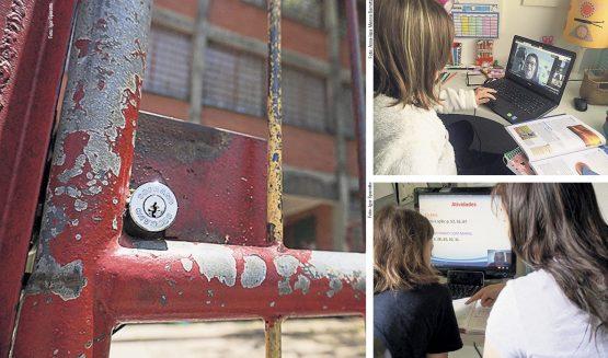 No ensino público, aulas a distância são na base da folhinha