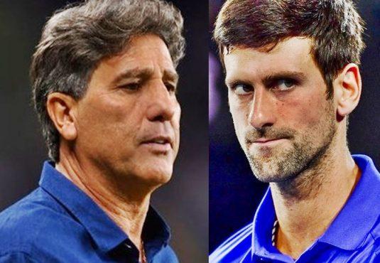 As muitas faces do negacionista | Fotos: Divulgação Grêmio FBPA e  Autralian Open