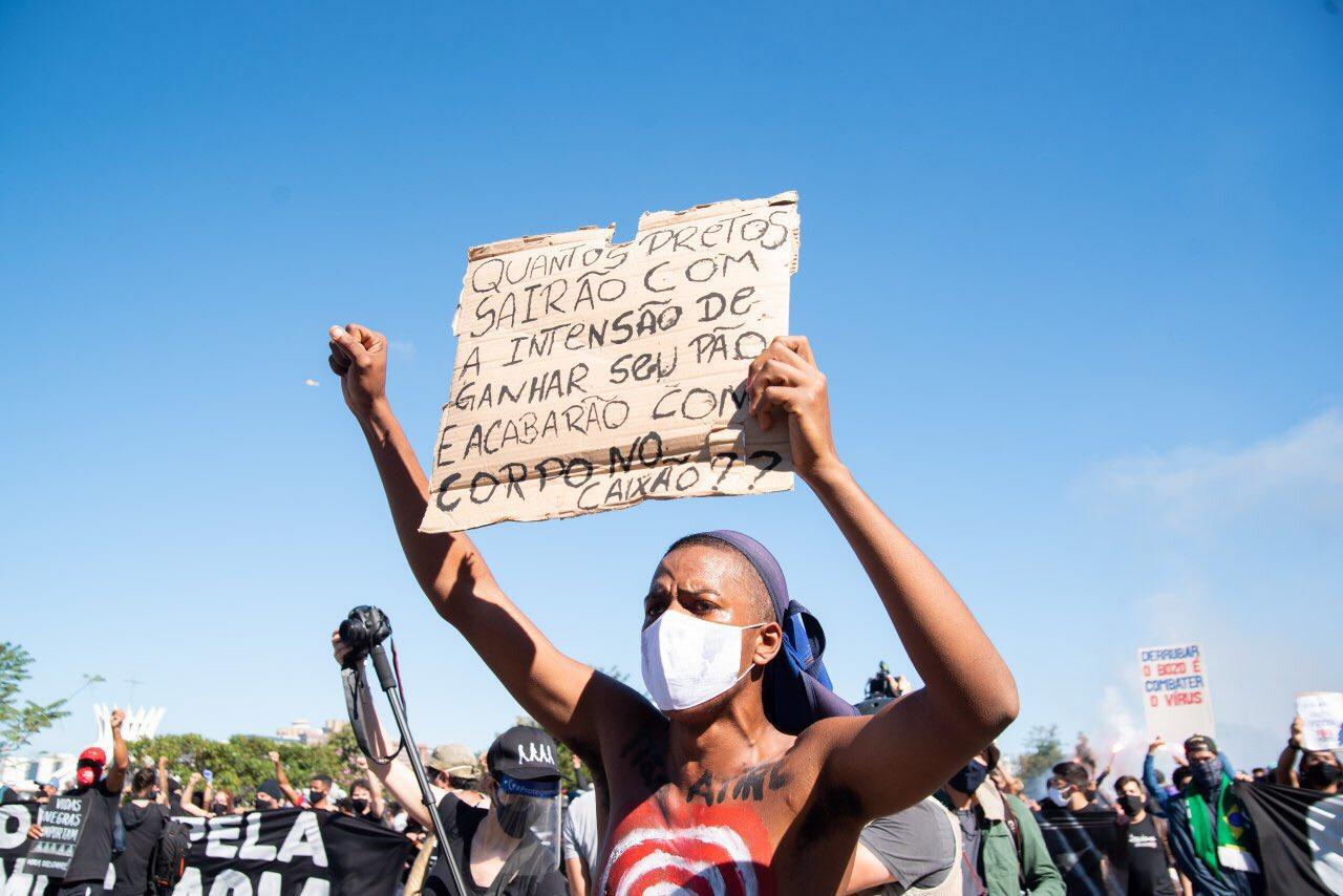 Em Brasília, ato reuniu grande número de pessoas
