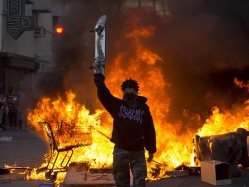 Minneapolis em chamas | Foto: Redes Sociais/Reprodução