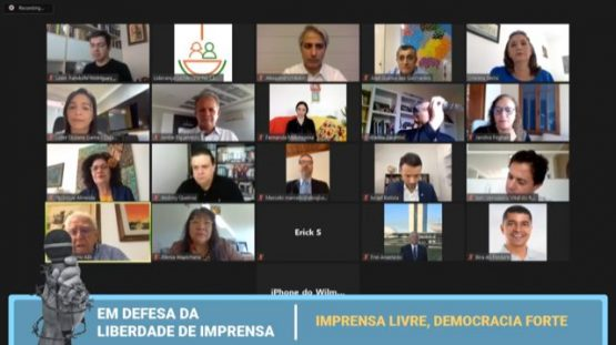 Imprensa livre foi tema de ato virtual da oposição a Bolsonaro | foto: Reprodução