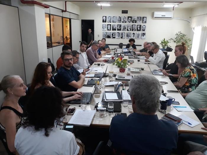 Integrantes do Conselho Estadual de Cultura em uma de suas últimas reuniões antes da pandemia