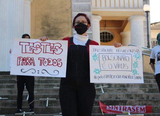 #FORABOLSONARO Assessoria Sintrasem - florianopolis 2 | Foto: Sintrasem/Comunicação
