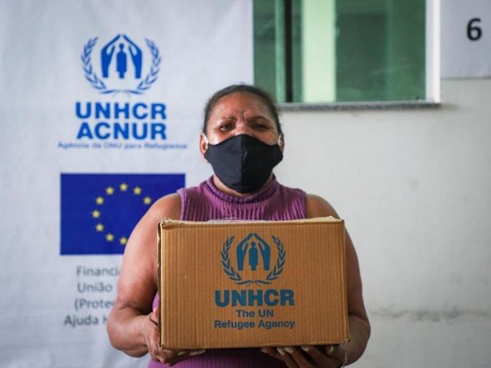 Margarita é uma das beneficiadas pelo auxílio financeiro oferecido pelo ACNUR com apoio da União Europeia