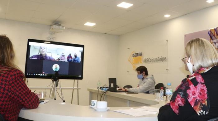 A parceria foi acertada em uma live da secretaria Arita Bergmann com a presidente do CRMV, Lisandra Dornelles