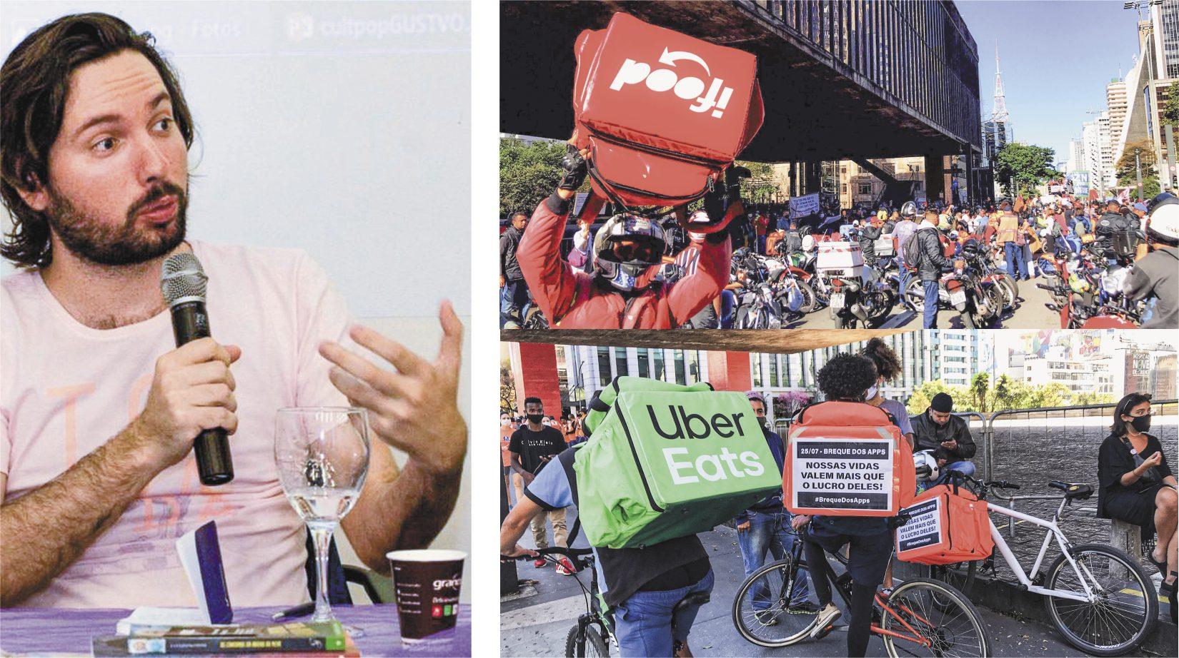 O pesquisador Rafael Grohmann tem subsidiado movimentos de entregadores que visam formar cooperativas de trabalho em plataformas digitais. Entregadores Antifascistas já realizaram duas greves nacionais