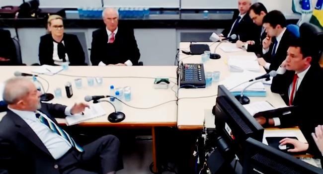 Interrogatório do ex-presidente Lula comandado pelo ex-juiz Sergio Moro