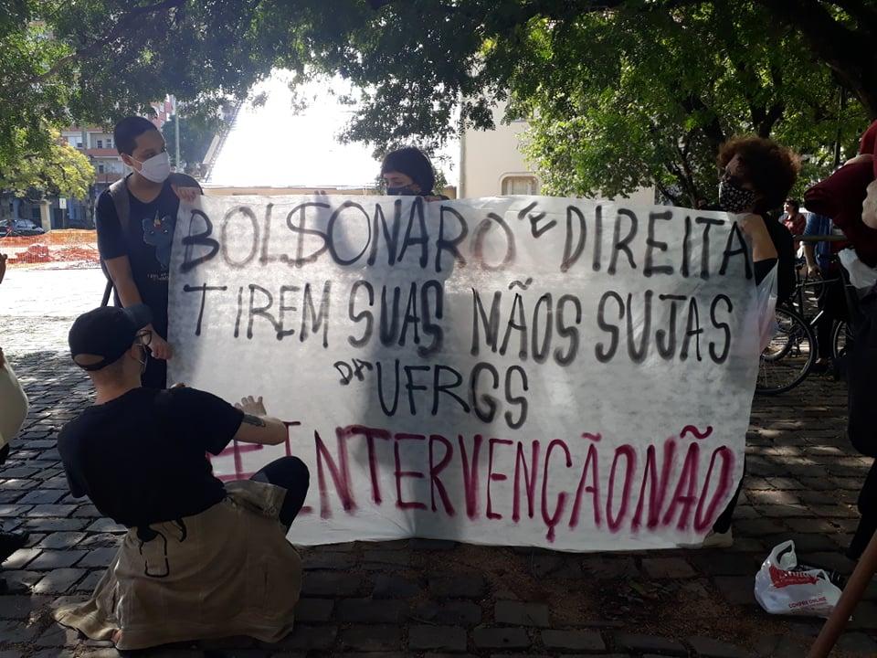 Estudantes protestam em frente à Reitoria (5)