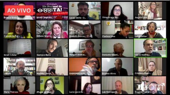 Professores da Rede Metodista paralisaram no Dia do Basta | Foto: Reprodução/Web