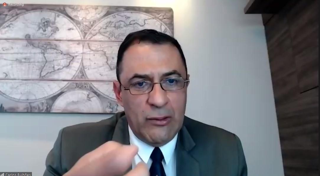 Carlos André Bulhões concedeu entrevista coletiva aos órgãos de imprensa em ambiente virtual