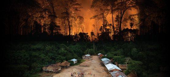 Quem patrocina a destruição da Amazônia e o genocídio dos povos indígenas | Foto de capa do relatório: Bruno Kelly/Amazônia Real/ Apib
