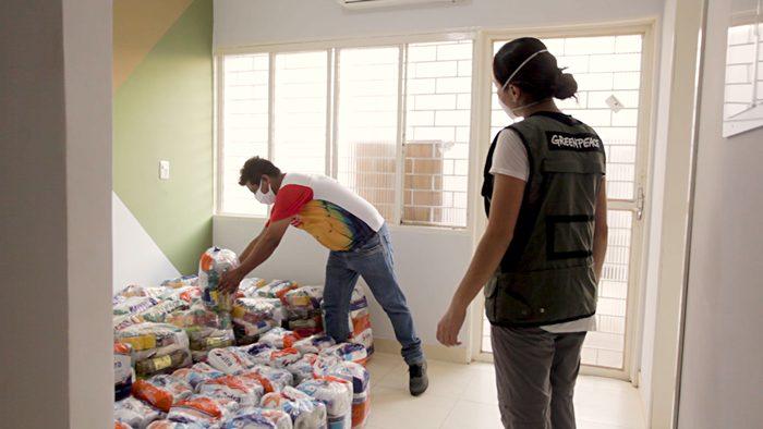 Entrega de cestas básicas à Federação dos Povos Indígenas de Mato Grosso