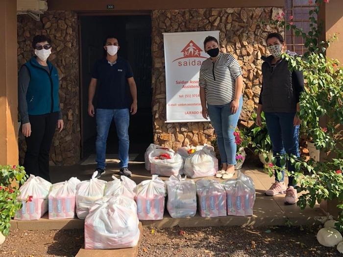 Desde abril, a ação criada pelo Sinpro/RS entregou mais 8 mil quilos de alimentos em todo o estado