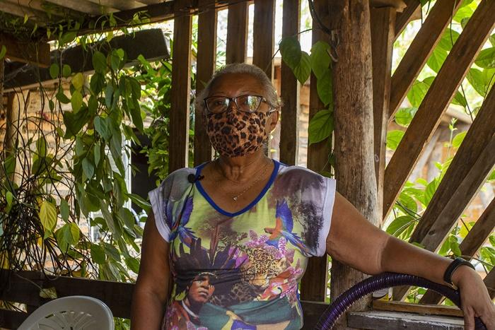 Dona Zumira Maria Dulce. Suas terras foram queimadas pelo fogo do Pantanal – Quilombo Mata Cavalo, em Nossa Senhora do Livramento (MT)