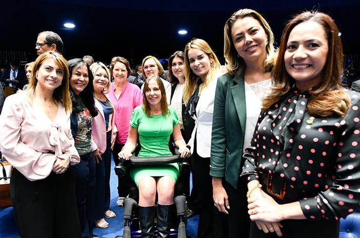 Bancada feminina no Senado em fevereiro de 2019
