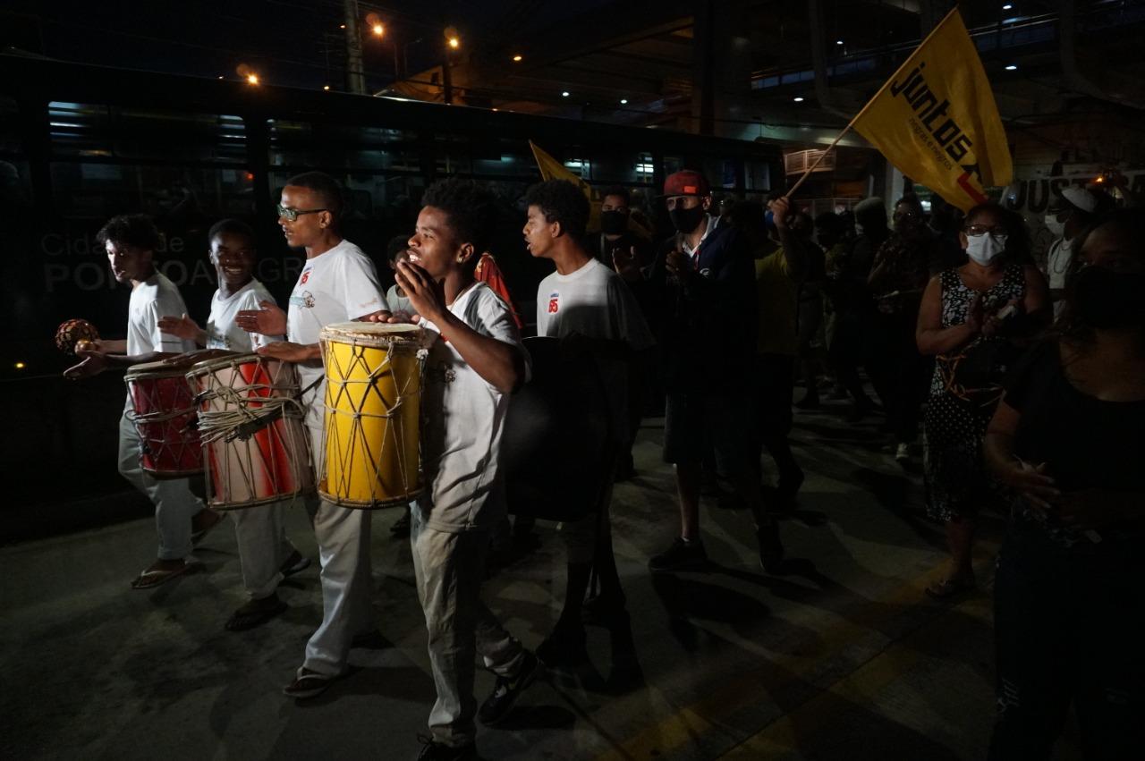 Ato marca uma semana do assassinado de João Alberto ocorrido no Carrefour em Porto Alegre