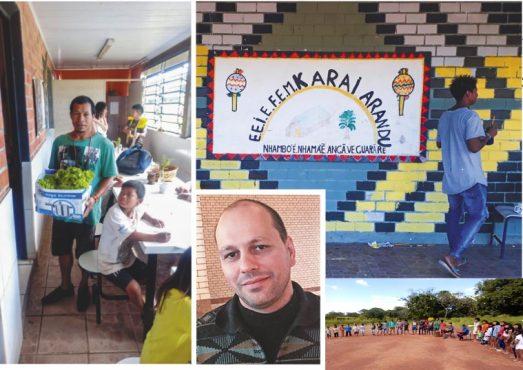 Sandro Costa da Silva atua na Escola Estadual Indígena de Ensino Fundamental Karaí Arandu, em Viamão