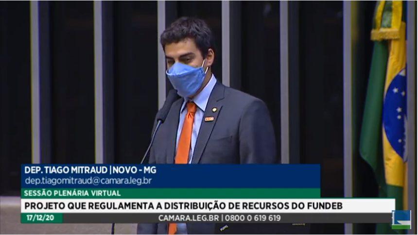 Mitraud (Novo) defendeu emenda que destinava parte dos recursos à iniciativa privada