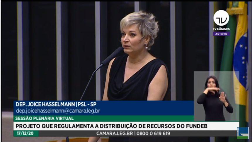 """Joice Hasselmann (PSL-SP) reconheceu que não havia clima político para votar e lamentou que deputados tenham cedido á narrativa """"de sindicatos"""""""
