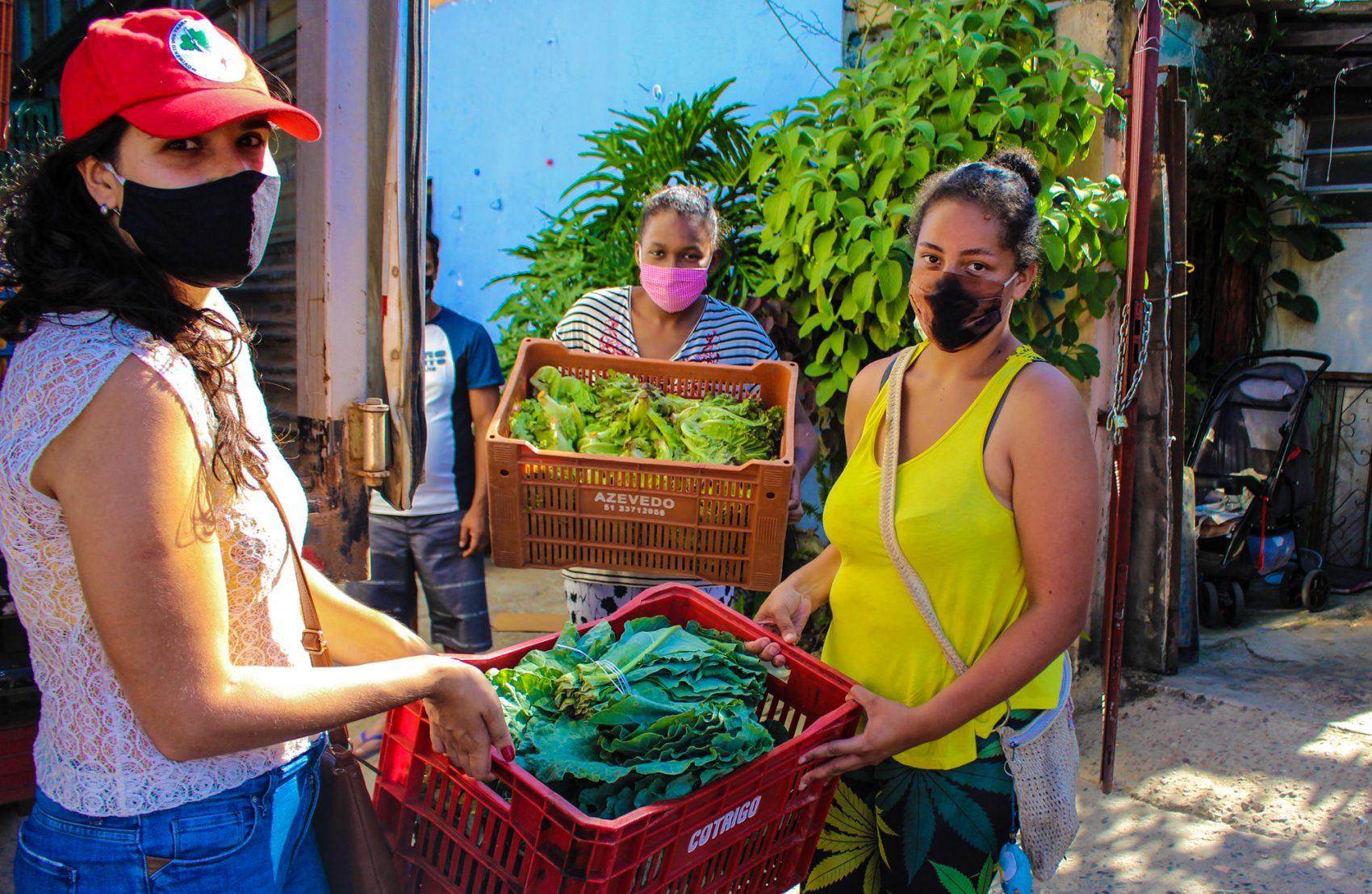 MST doa 12 toneladas de alimentos em Porto Alegre