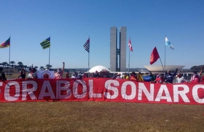 Ato de julho do ano passado contra Bolsonaro