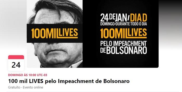 Campanha no Facebook mobiliza para ato pelo afastamento de Bolsonaro no dia 24