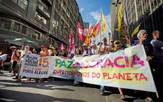 Marcha virtual marca abertura do Fórum Social Mundial 2021 | Foto: FSM Arquivo/ Divulgação