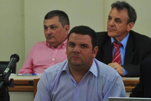 O empresário Mauro Hoffman (E) e o produtor musical Marcelo de Jesus