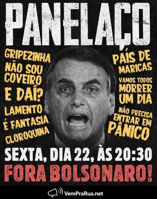 Panfleto digital do movimento Vem Pra Rua, ex-aliado, que agora também quer o impeachment de Bolsonaro