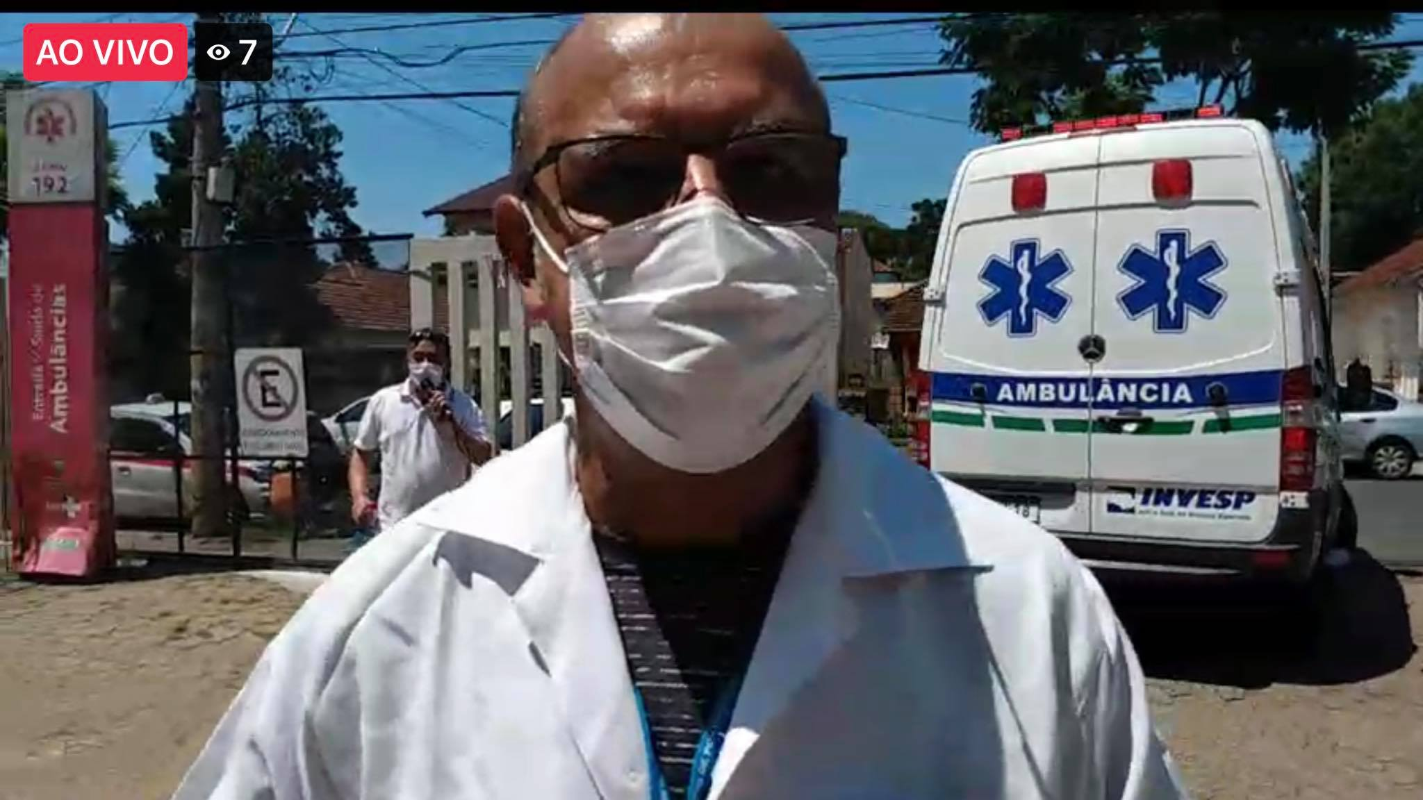 Roberto Terres, da comissão de trabalhadores da saúde