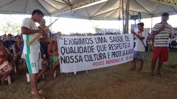 Assembleia dos Povos Indígenas do Tocantins protesta por melhores condições na saúde indígena