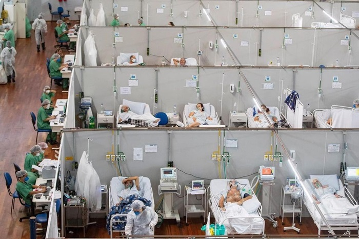 Hospital de campanha de Santo André, na Grande São Paulo