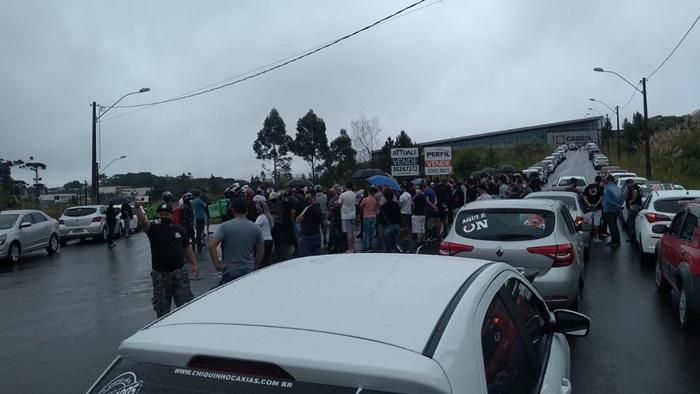 Em Caxias do Sul, na Serra Gaúcha, categoria informou a adesão de 650 motoristas