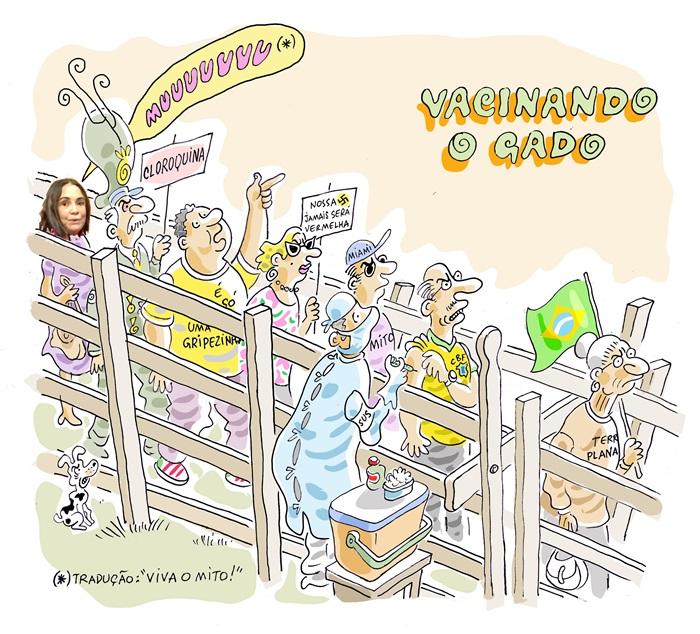 Charge - Santiago - Março 2021 - Vacinando o gado