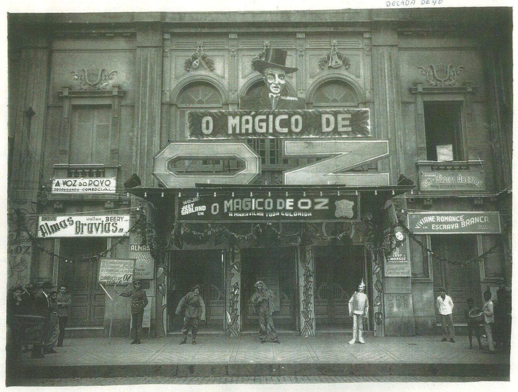 Theatro Sete de Abril, de Pelotas. Filme O Mágico de Oz. Década de 1940. Acervo Memorial Theatro Sete de Abril