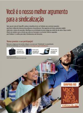 Sinpro/RS quer associar mais 1,4 mil professores | Arte: D3 Comunicação