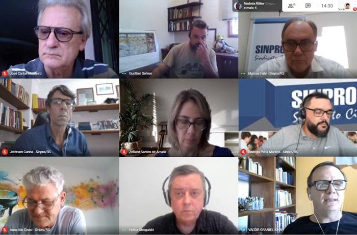 Pesquisa encomendada pelo Sinpro/RS, Sinpro Noroeste e Sinpro Caxias foi apresentada por consultores da FlamingoEDU aos sindicatos