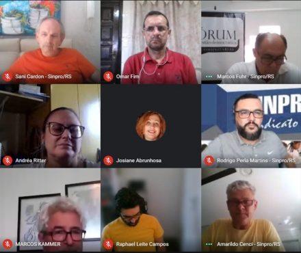 Fórum debateu gestão democrática e futuro do ensino comunitário no RS | Foto: Reprodução