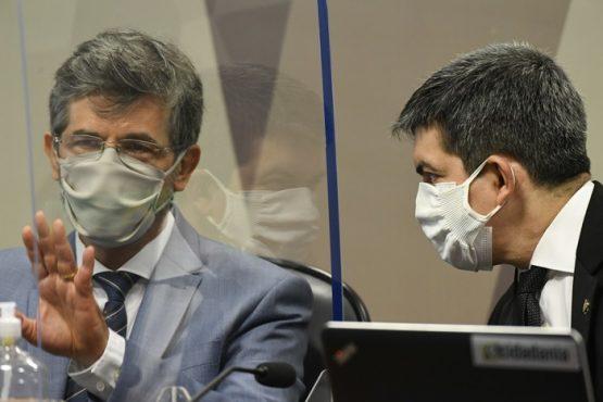 Senadores pressionam ex-ministros de Bolsonaro sobre kit-covid e imunidade de rebanho | Foto: Jefferson Rudy/Agência Senado