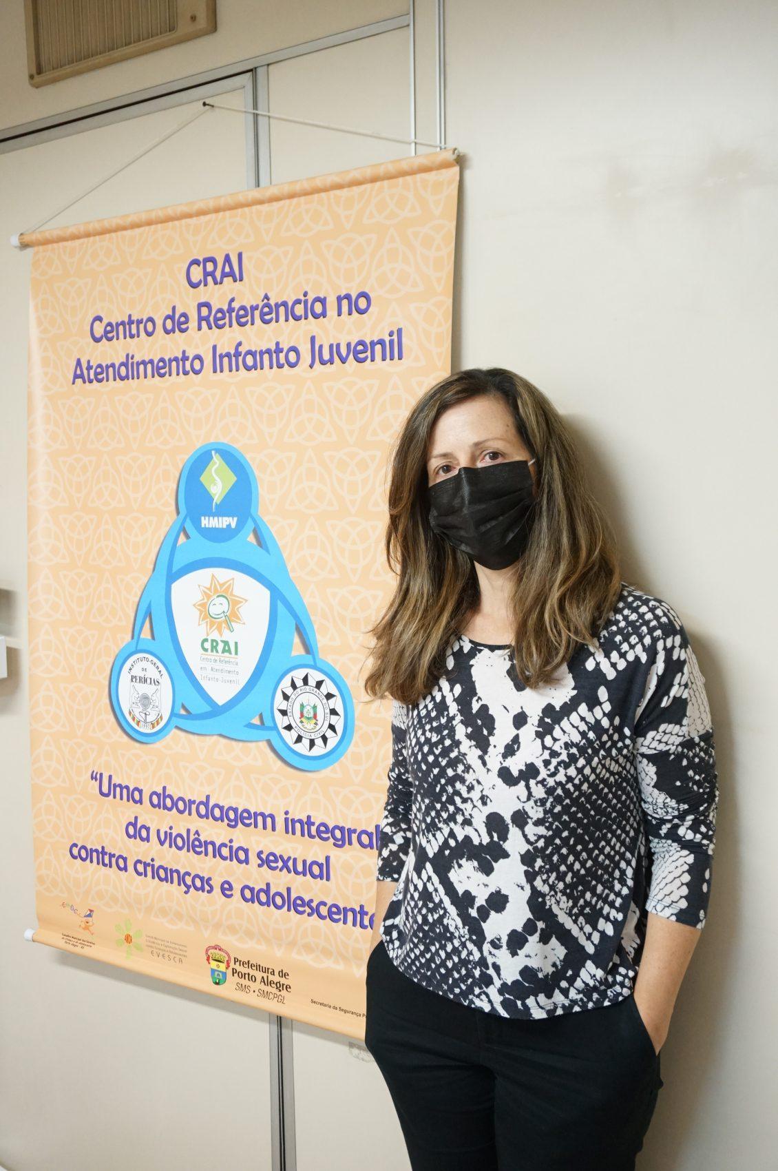 Maria de Fátima Fernandes Gea, coordenadora do Centro de Referência no Atendimento Infanto-juvenil (CRAI), órgão da Prefeitura de Porto Alegre